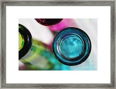 Decorative Bottles II Framed Print by Krissy Katsimbras