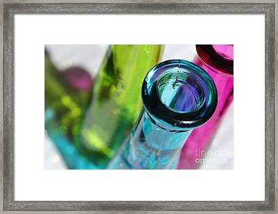 Decorative Bottles Iv Framed Print by Krissy Katsimbras