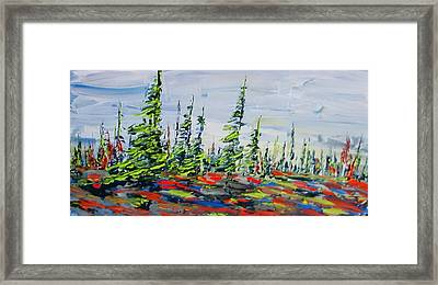 Decorative Churchill Tree Line Framed Print
