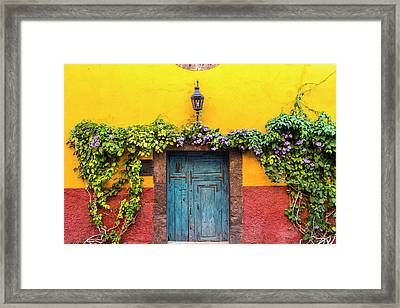 Decorative Door Display On The Streets Framed Print