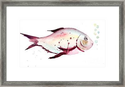 Decorative Fish Framed Print