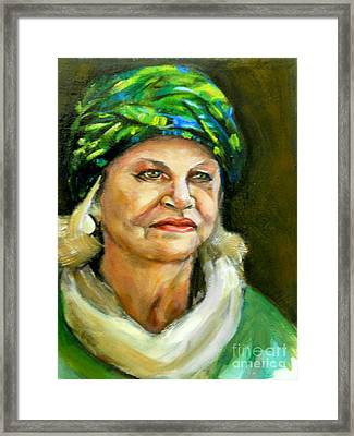 Decorative Hat Framed Print by Renuka Pillai