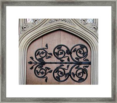 Decorative Hinge Framed Print by Stephanie Grant