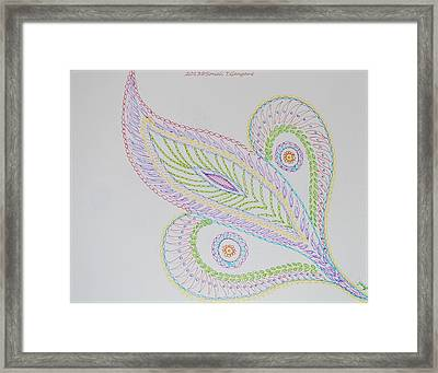 Decorative Leaf Framed Print