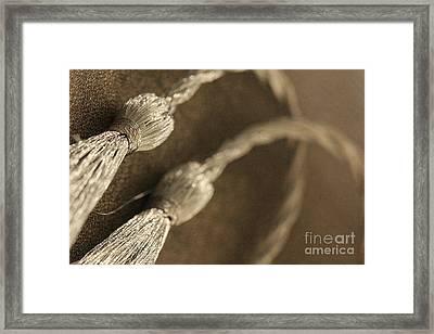 Decorative Tassel Framed Print by Amanda Mohler
