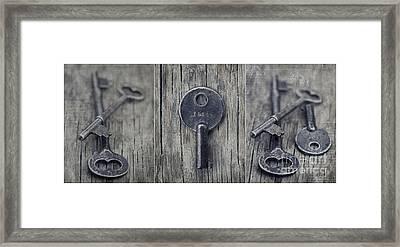 decorative vintage keys I Framed Print by Priska Wettstein