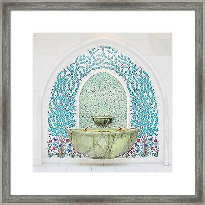 #decorative #wallceramic #grandmosque Framed Print by Devi Gunawan