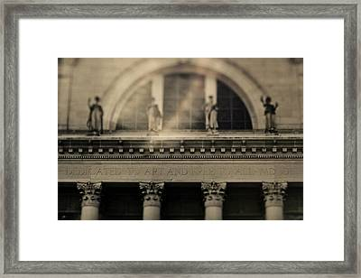 Framed Print featuring the photograph Dedicated To Art by Heather Green