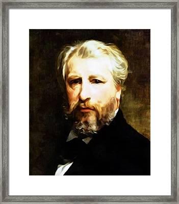 Dedication To William Adolphe Bouguereau Framed Print by Georgiana Romanovna