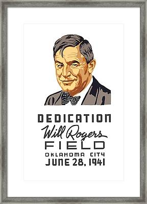 Dedication Will Rogers Field Framed Print