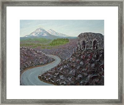 Dee Wright Observatory Framed Print by Kenny Henson