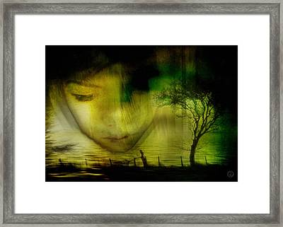 Deep As The Water Framed Print by Gun Legler