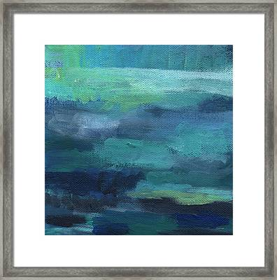 Tranquility- Abstract Painting Framed Print by Linda Woods