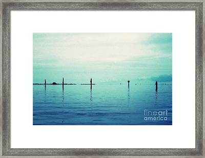 Deep Blue Bay Framed Print by Scott Allison