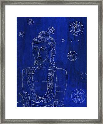 Deep Blue Buddha Framed Print