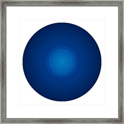 Deep Blue Circles Framed Print by Frank Tschakert