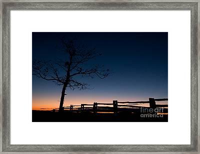 Deep Blue Dawn On The Blue Ridge Parkway Framed Print