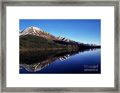 Deep Blue Lake Alaska Framed Print by Thomas R Fletcher