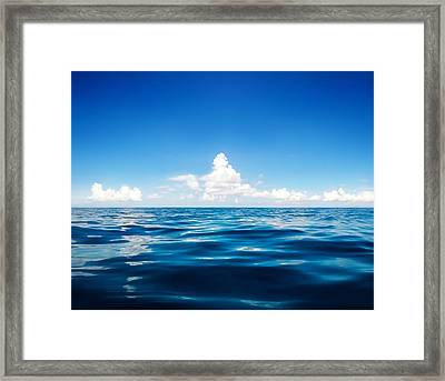 Deep Blue Framed Print