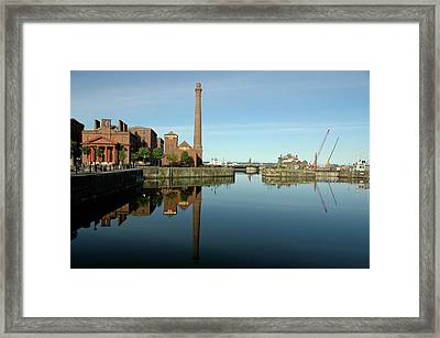 Framed Print featuring the photograph Deep Blue Reflections by Jonah  Anderson