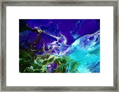 Deep Blue Sea Abstract Framed Print