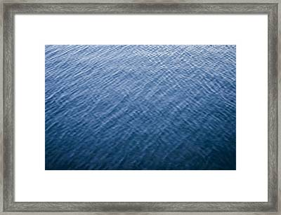 Deep Blue Water Framed Print