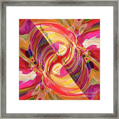 Deep Calls Unto Deep Framed Print by Margie Chapman