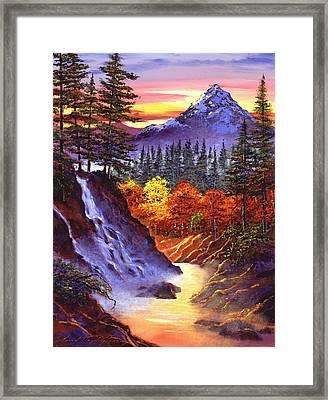 Deep Canyon Falls Framed Print