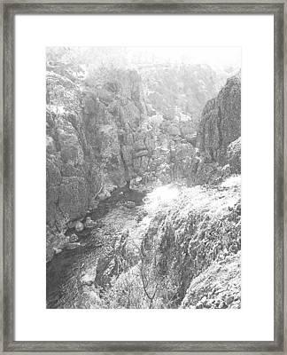 Deep Canyon Framed Print by Frank Wilson