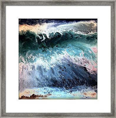 Deep Color Wave Framed Print by Patty Vicknair