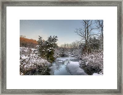 Deep Creek At Green Lane Reservoir - Pennsylvania Usa Framed Print by Mother Nature