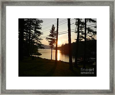 Framed Print featuring the photograph Deep Creek Lake Park Md by Emmy Marie Vickers