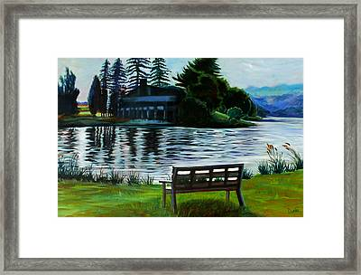 Deep Creek Framed Print by Susan Duda