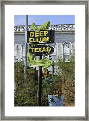 Deep Ellum Texas Framed Print