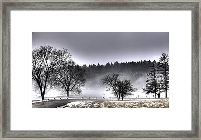 Deep Fog Over Marmo Framed Print by Ed Cilley