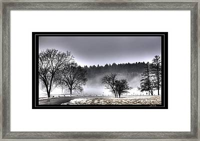 Deep Fog Over Marmo   Framed Framed Print by Ed Cilley