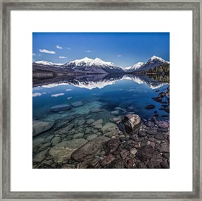 Deep Freeze Framed Print by Aaron Aldrich