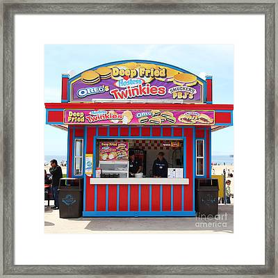 Deep Fried Hostess Twinkies At The Santa Cruz Beach Boardwalk California 5d23689 Framed Print by Wingsdomain Art and Photography