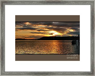 Deep Gold Framed Print by Chris Anderson