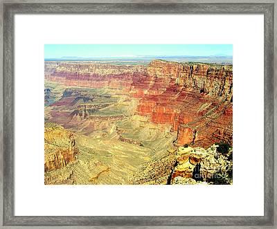 Deep Grand Canyon Framed Print by John Potts
