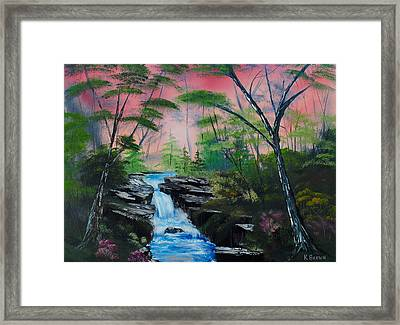 Deep In The Woods Framed Print by Kevin  Brown