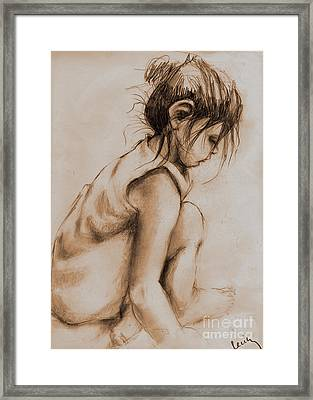 Deep In Thought Framed Print by Cecily Mitchell