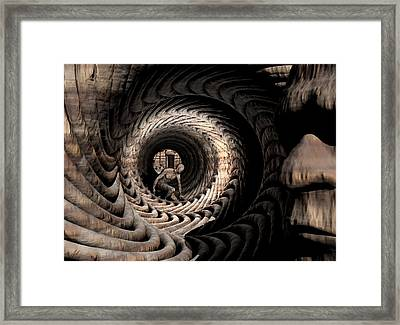 Framed Print featuring the digital art Deep In Thought by John Alexander