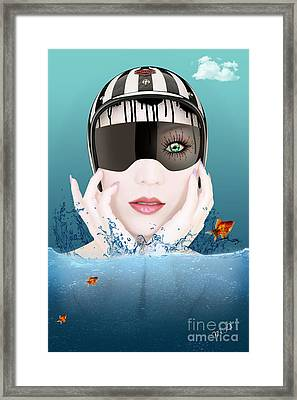 Deep Inside  Framed Print by Mark Ashkenazi