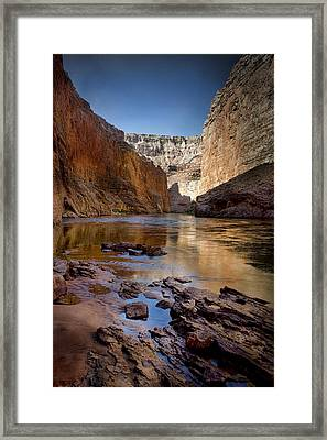 Deep Inside The Grand Canyon Framed Print