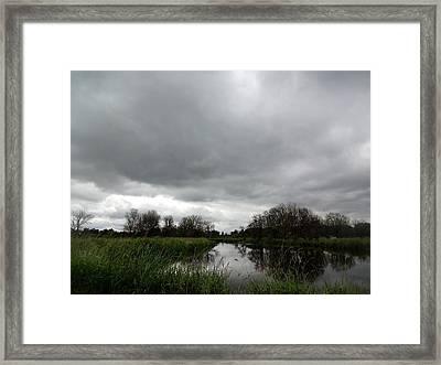 Deep Lake At Ridgefield National Wildlife Refuge Framed Print by Lizbeth Bostrom