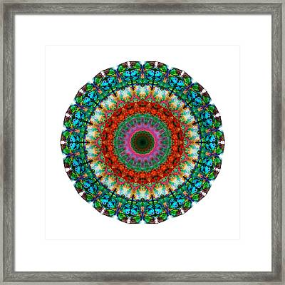 Deep Love - Mandala Art By Sharon Cummings Framed Print