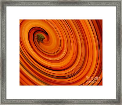 Deep Orange Abstract Framed Print