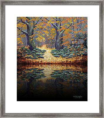 Deep Pond Reflections Framed Print by Frank Wilson