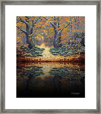 Deep Pond Reflections Framed Print